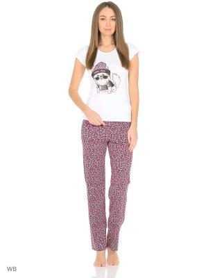 Пижама Infinity Lingerie. Цвет: серый, розовый, белый