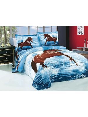Комплект постельного белья Soft Line. Цвет: голубой