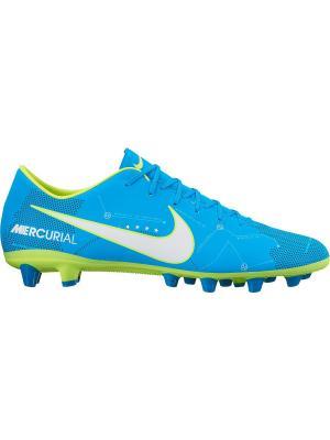Бутсы MERCURIAL VICTORY VI NJR AG Nike. Цвет: синий, белый