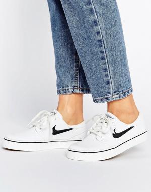 Nike SB Белые кроссовки Zoom Janoski. Цвет: белый