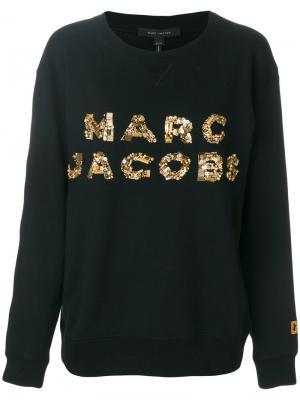 Толстовка с логотипом из пайеток Marc Jacobs. Цвет: чёрный