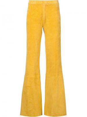 Расклешенные брюки Soho Stouls. Цвет: жёлтый и оранжевый