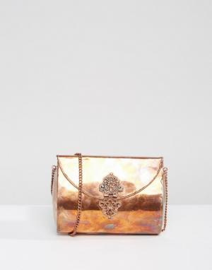 Park Lane Металлическая сумка ручной работы. Цвет: медный