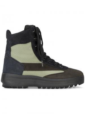 Ботинки в стиле милитари Yeezy. Цвет: зелёный