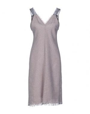 Платье до колена PF PAOLA FRANI. Цвет: бежевый