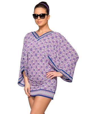 Туника пляжная для женщин Charmante. Цвет: синий, салатовый, фиолетовый