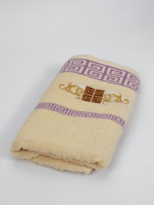 Полотенце Орнамент La Pastel. Цвет: молочный, сиреневый