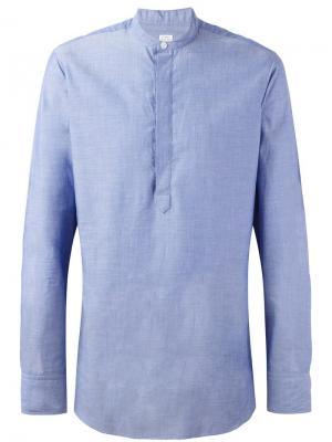 Рубашка с воротником-стойкой E. Tautz. Цвет: синий