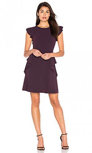 Платье ruffle Rebecca Taylor. Цвет: фиолетовый