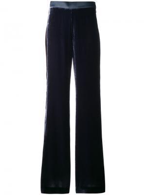 Фактурные брюки клеш Mantu. Цвет: синий