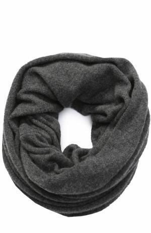 Кашемировый шарф-снуд TSUM Collection. Цвет: темно-серый