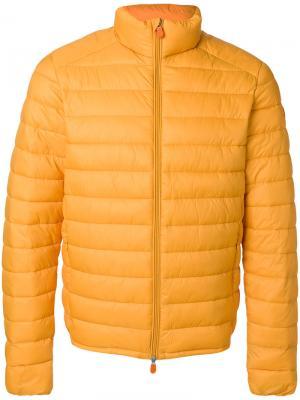 Стеганая куртка Save The Duck. Цвет: жёлтый и оранжевый
