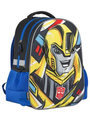 Рюкзак мягкий Transformers Prime. Цвет: темно-серый, голубой, желтый