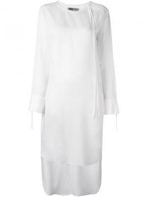 Платье из тенсела Y-3. Цвет: белый