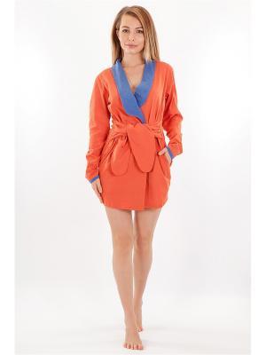 Халат HELLO MODA!. Цвет: оранжевый