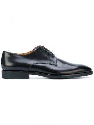 Классические туфли на шнуровке Corneliani. Цвет: чёрный