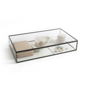 Коробка-витрина Ш.50xВ.9xГ.29 см, Digori AM.PM.. Цвет: темно-серый металл