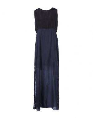 Длинное платье EUROPEAN CULTURE. Цвет: темно-синий