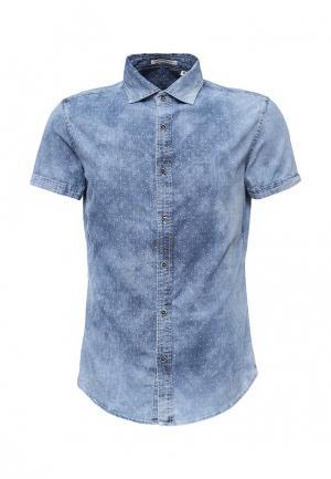 Рубашка Tony Backer. Цвет: голубой
