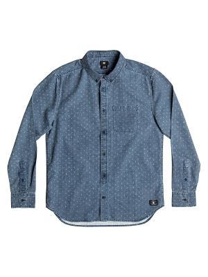 Рубашка DC Shoes. Цвет: голубой