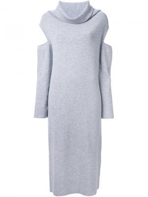 Платье с вырезными деталями Nehera. Цвет: серый