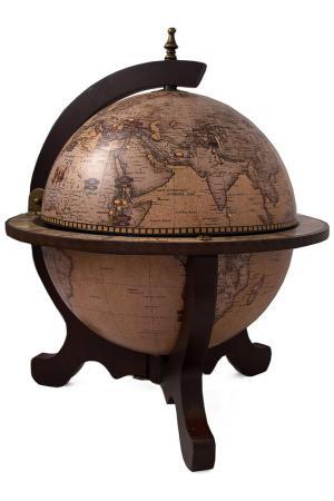 Глобус-бар 40х40х50см Русские подарки. Цвет: коричневый