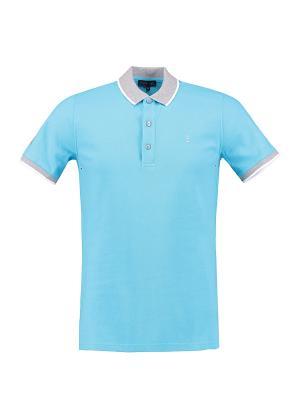 Футболка-поло Florentino. Цвет: голубой