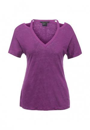 Футболка Armani Exchange. Цвет: фиолетовый