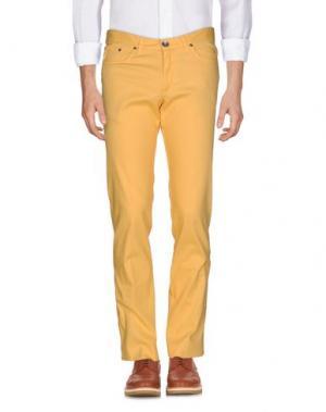 Повседневные брюки GERMANO. Цвет: желтый