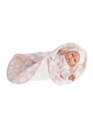 Кукла Марселина в розовом, озвученная,29 см Antonio Juan. Цвет: бледно-розовый