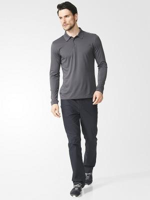 Лонгслив Pique Polo Shirt Adidas. Цвет: антрацитовый