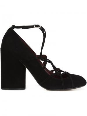 Туфли на массивном каблуке Marc Jacobs. Цвет: чёрный