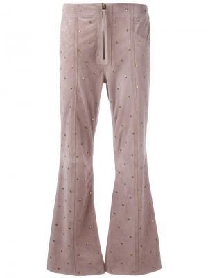 Укороченные расклешенные брюки Philosophy Di Lorenzo Serafini. Цвет: коричневый