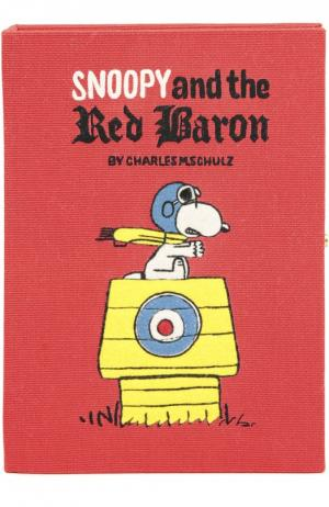 Клатч в виде книги с аппликацией Olympia Le-Tan. Цвет: красный