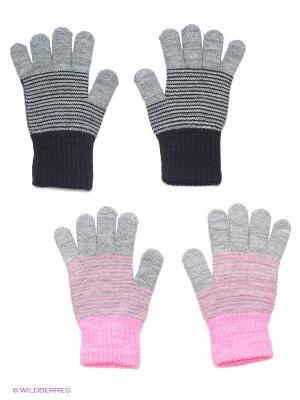 Перчатки, 2 пары FOMAS. Цвет: светло-серый, розовый, темно-серый