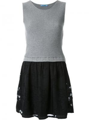 Платье в стиле колор-блок Guild Prime. Цвет: серый