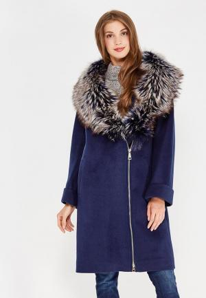 Пальто Prima Woman. Цвет: синий