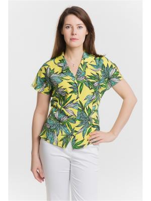 Блузка ESSA. Цвет: желтый