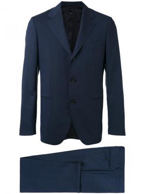 Деловой костюм Caruso. Цвет: синий