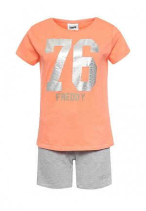 Костюм спортивный Freddy. Цвет: оранжевый, серый