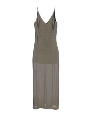 Длинное платье CARLA G.. Цвет: золотистый