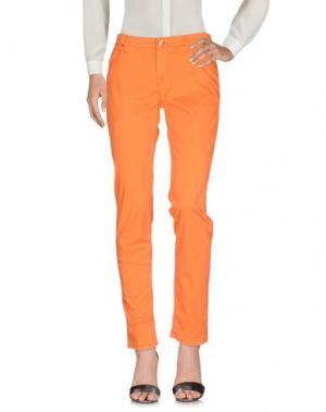 Повседневные брюки OAKS. Цвет: оранжевый