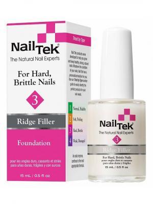 Базовое выравнивающее покрытие для сухих, ломких ногтей Nailtek foundation 3 15 мл. Цвет: молочный