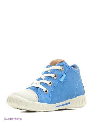 Кеды ECCO. Цвет: голубой, белый