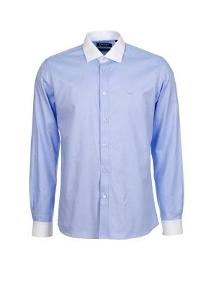 Рубашка DKNY. Цвет: голубой