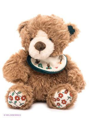 Медведь с нагрудником PLUSH APPLE. Цвет: светло-коричневый