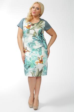 Платье Qneel. Цвет: мультицвет