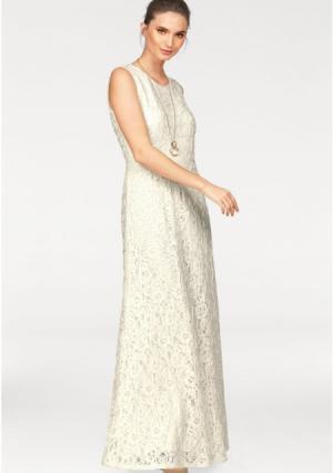 Вечернее платье Laura Scott. Цвет: кремовый