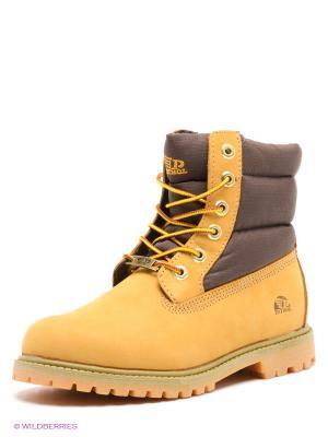 Ботинки Patrol. Цвет: желтый, коричневый