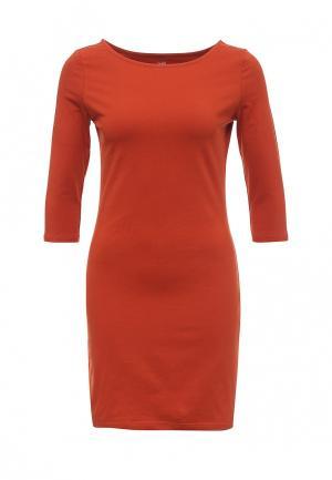 Платье oodji. Цвет: оранжевый